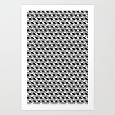 Drawn Triangles 02 Art Print