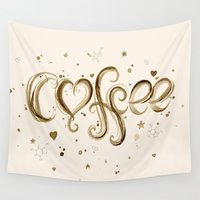 coffee Wall Tapestries featuring Coffee by Olechka
