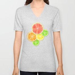 Citrus Delight Unisex V-Neck