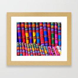 colorful patterns Framed Art Print
