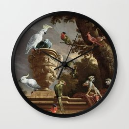 The Menagerie Melchior d'Hondecoeter 1690 Wall Clock