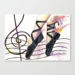 Dancing in the Street of Music Canvas Print