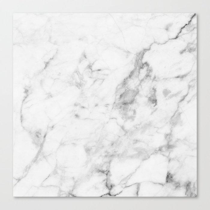 White Marble Leinwanddruck