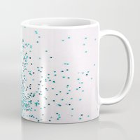 swim Mugs featuring Swim by Galaxy Eyes