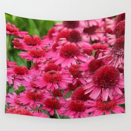 FUCHSIA PINK ECHINACEA GARDEN FLORAL Wall Tapestry