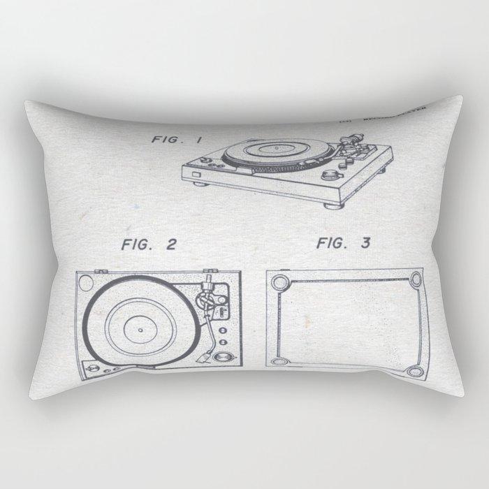 Record player 1979 Rectangular Pillow