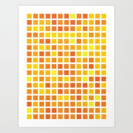 City Blocks - Sunshine #959 Art Print