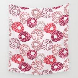 Raspberry fruit pattern Wall Tapestry