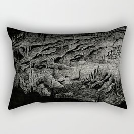 Orpheus and Eurydice - Getting out of the underground Rectangular Pillow
