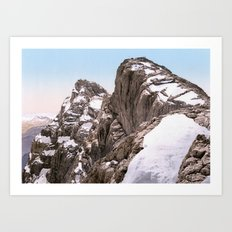 Hocheck and Mittelspitze 1900 Art Print