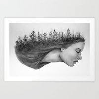 Nature mind Art Print