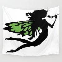 fairy Wall Tapestries featuring FAIRY by Trokola