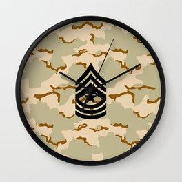 Sergeant Major (Desert Camo) Wall Clock