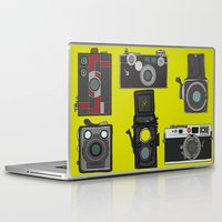 cameras Laptop & iPad Skins featuring Cameras by Illustrated by Jenny