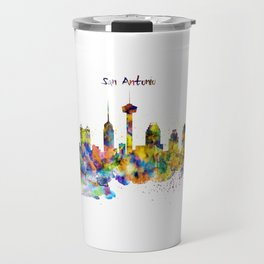 San Antonio Skyline Silhouette Travel Mug