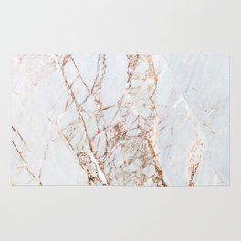 Gold Grey and White Sparkle Marble Rug