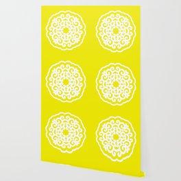 Golden Yellow Asian Moods Mandalla Wallpaper