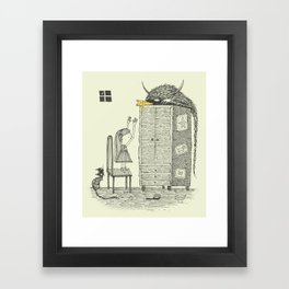 'There You Are!' Framed Art Print