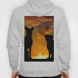 TWO DOGS AT SUNSET Hoody
