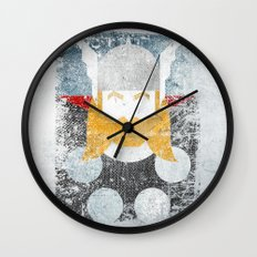 God of thunder grunge superhero Wall Clock