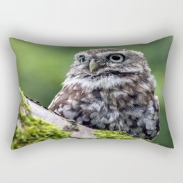 owl in green Rectangular Pillow