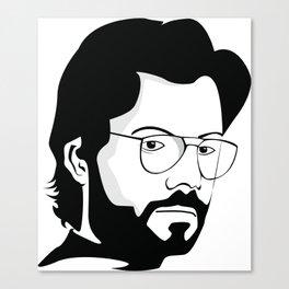 la casa de papel tee sirt EL PROFESOR Canvas Print