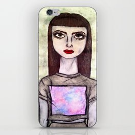 Girl Watercolor iPhone Skin