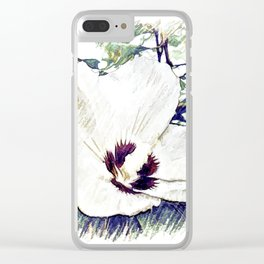 The Art Of A Hibiscus Flower Clear iPhone Case