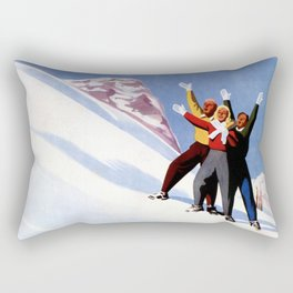 Aosta Valley winter sports Rectangular Pillow