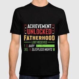 Dad To Be Gift Achievement Unlocked Fatherhood T-shirt