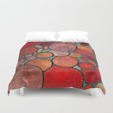 Colorful Abstract Stones  Duvet Cover