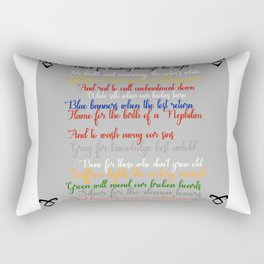 Shadowhunter rhymes Rectangular Pillow