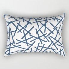 Kerplunk Repeat Navy on White Rectangular Pillow