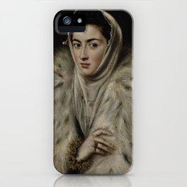El Greco – Lady in a Fur Wrap iPhone Case