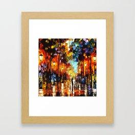 Tardis Art And The Couple Starry Night Framed Art Print