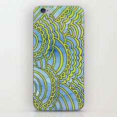 Water & Color Drawing Meditation - Lime iPhone & iPod Skin