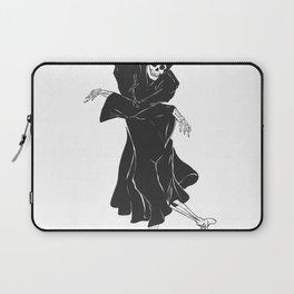 Dancing reaper - silhouette grim - skeleton cartoon - night angel Laptop Sleeve