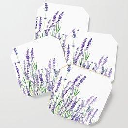 lavender watercolor horizontal Coaster
