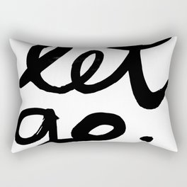 Let go Rectangular Pillow