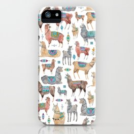 Llamas and Alpacas iPhone Case