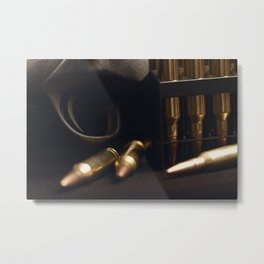 Bullets and Rifle Metal Print
