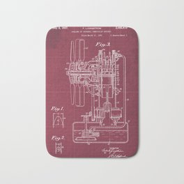 Cooling of Internal Combustion Engines Patent Year 1937 Bath Mat