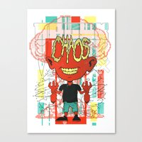 chaos Canvas Prints featuring Chaos by Tshirt-Factory