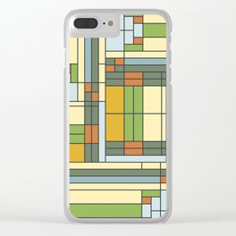 Frank lloyd wright pattern S01 Clear iPhone Case