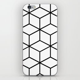 Black and White - Geometric Cube Design I iPhone Skin