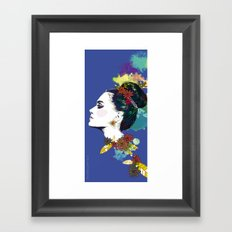 Blue Bun  Framed Art Print
