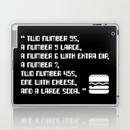 Big Smoke's Order (2 number 9s) gta san andreas drive thru mission typography text with burger icon Laptop & iPad Skin
