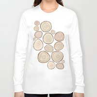 tree rings Long Sleeve T-shirts featuring Tree Rings by Jackie Sullivan