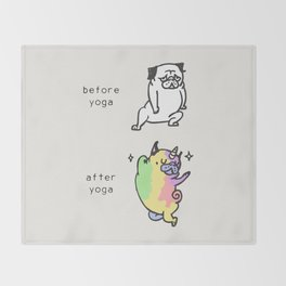 After Yoga Throw Blanket