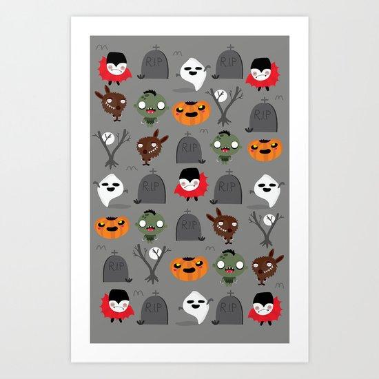 Not that spooky halloween Art Print